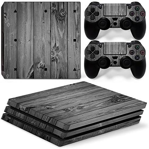 Sony PS4 Playstation 4 Pro Skin Design Foils Pegatina Set - Grey Wood Motivo: Amazon.es: Videojuegos