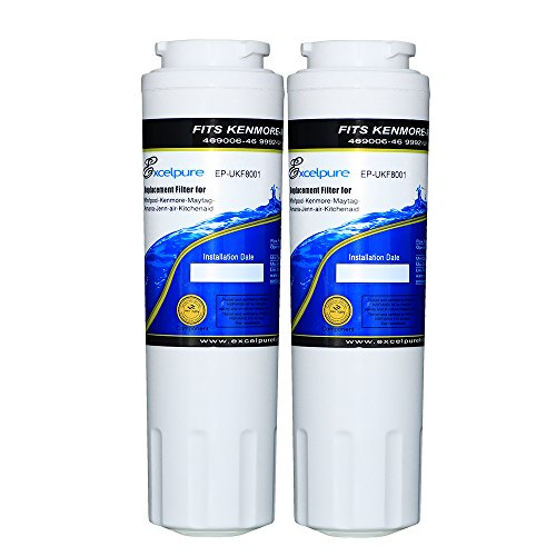 Excelpure Refrigerator Water Filter Replacement Cartridge for Maytag UKF8001, UKF-8001P, Kenmore 469006, 469992, Amana UKF8001AXX (2 PACK) by EXCELPURE (Image #7)
