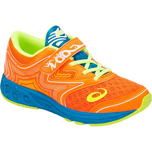 Price comparison product image ASICS C712N Kid's Noosa GS Running Shoe,  Shocking Orange / Flash Yellow - 3