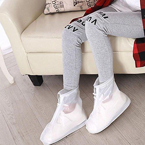 Rain Regenschuhe Frauen Weiß Wiederverwendbare Rutschfest OverDose Shoes Resistant Boots Stiefel Unisex Wasserdichte Slip wd07xwn4qt