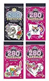 4x 280 TATTOOS Style 9,39,40,41 Temporary Tatoos Body Art Stickers(5 pages pe set,total 20 pages)