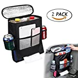 G1-Tech 2-pack Car Seat Back Organizer Baby Backseat Organizer Multi Purpose Travel Storage Bag