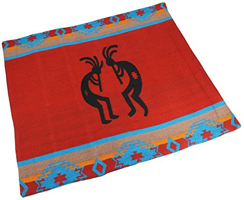 Splendid Exchange Southwestern Bedding Silhouette Collection, Mix and Match, Reversible Pillow Sham, Kokopelli Red and Black (Pottery Silhouette)