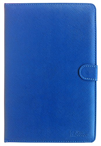 """DURAGADGET Dark Blue Faux Leather Case Cover With Mini Stylus & Micro USB German Keyboard For Point Of View Tab / Chuwi V99 9.7"""" A31 Quad core IPS Retina Screen Android 4.1 16GB / Rock Jaw Celeritas 10.1-inch 8 core (Octa core) Tablet PC (ARM 1.6GHz, 2GB RAM, 32GB Memory, Android Jelly bean 4.1)"""