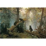 Oil painting 'Morning in a Pine Forest,1889 By Ivan Shishkin' printing on high quality polyster Canvas , 8x12 inch / 20x30 cm ,the best Laundry Room decoration and Home gallery art and Gifts is this Cheap but High quality Art Decorative Art Decorative Prints on Canvas