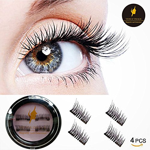 4d418d1d08b 3D Reusable False Magnetic Eyelashes -Dual Magnets,Natural Handmade  Extension Fake Eyelashes,1