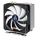 Arctic Freezer 33 – Semi Passive Tower CPU Cooler for Intel 115X/2011-3 and AMD AM4 with 120 mm PWM Fan, Silent high Performance Cooler up to 200W TDP – Grey/Black