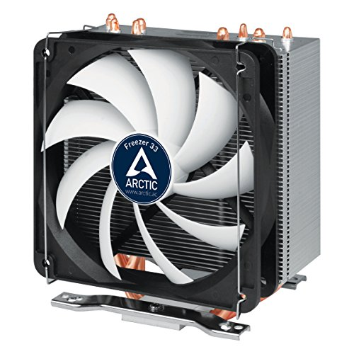 Arctic Freezer 33 – Semi Passive Tower CPU Cooler for Intel 115X/2011-3 and AMD AM4 with 120 mm PWM Fan, Silent high Performance Cooler up to 200W TDP – Grey/Black by ARCTIC