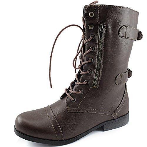 Dailyshoes Vrouwen Evan-10 Enkel Rits Militaire Gevechtslaarzen, 9 B (m) Ons