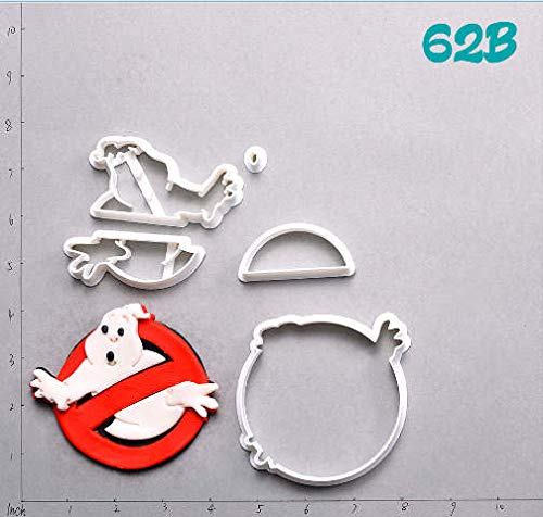 1 piece Ghostbusters Design Plastic Cake Cutter Set Custom Made 3D Printed Fondant Cupcake Top Cookie Cutter Cortadores De Fondant]()