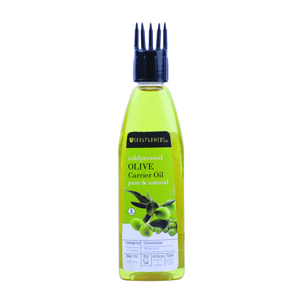 Soulflower Cold Pressed Olive Oil, 120ml