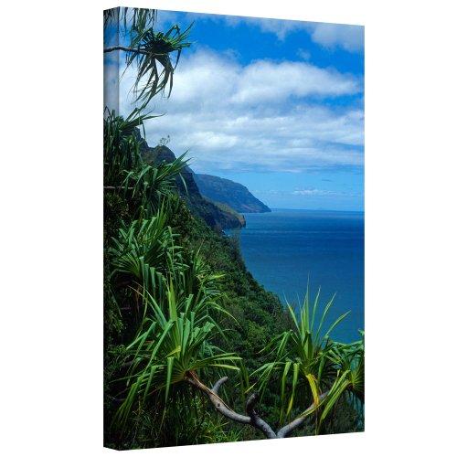 (ArtWall Kathy Yates 'Kalalau Trail Kauai' Gallery Wrapped Canvas Artwork, 32 by 48-Inch)
