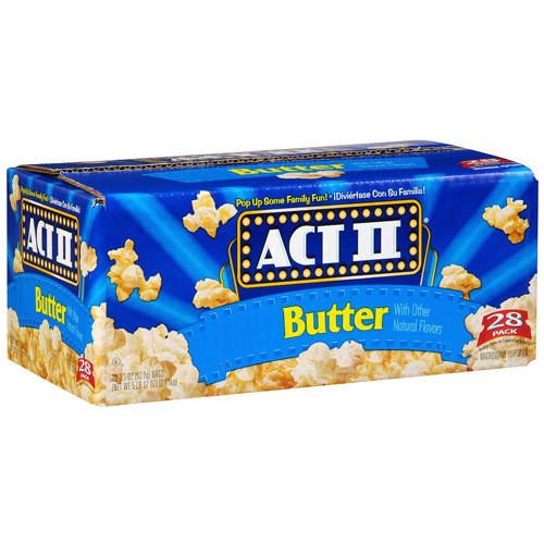 Act II Popcorn, Microwave Butter Popcorn - 28/3.3 oz. Bags