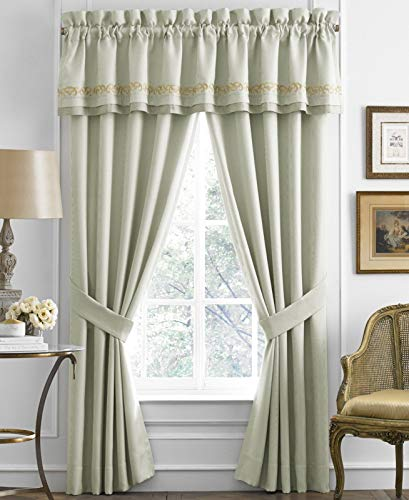 - Croscill Loraine Tailored Valance Light Blue with Gold Accents 88