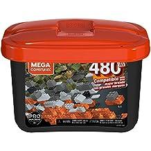 Caixa Pro Blocos de Montar, 480 peças,  Mega Construx, Mattel