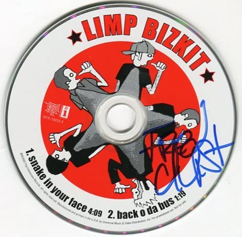 Fred Durst Limp Bizkit Signed Snake In Your Face Cd At Amazon S Entertainment Collectibles Store