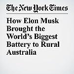 How Elon Musk Brought the World's Biggest Battery to Rural Australia | Adam Baidawi