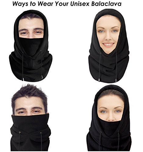 Self Pro Balaclava Thermal Fleece Hood WindResistant Ski Mask  Heavyweight Cold Weather Winter