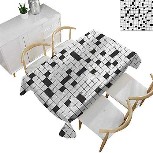Angoueleven Word Search PuzzleWholesale tableclothsClassical Crossword Puzzle with Black and White Boxes and NumbersFabric Print Tablecloth 60