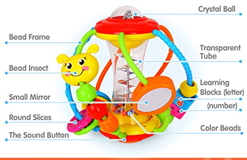 Coolecool Healthy Ball Baby Toys 3 6 Months Baby Rattle Educational Learning Activity Sensory Toys for Infants Babies (Multicolored) by Coolecool (Image #2)
