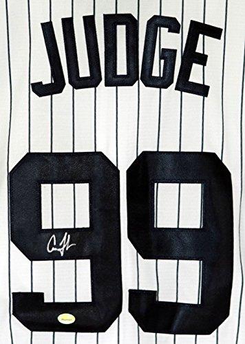 Aaron Judge New York Yankees Signed Autographed White Pinstripe #99 (Signed Yankees White Pinstripe Jersey)