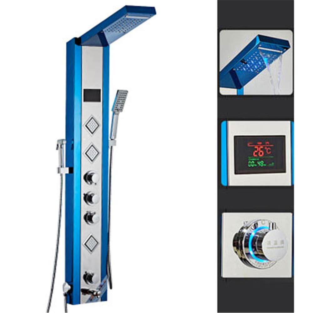 CRZJ Panel de Ducha termostatico Set de Ducha de Temperatura Constante Inteligente de Acero Inoxidable de Pared, Fácil de Instalar,A: Amazon.es: Hogar