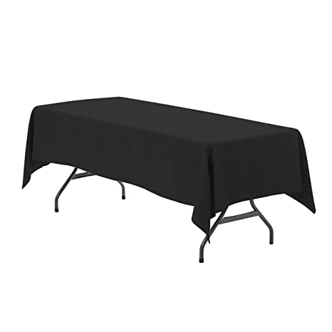 Pleasing Your Chair Covers 60 X 102 Inch Rectangular Polyester Tablecloth Black Seamless Premium Wedding Table Cloth For 6 Ft Tables Beatyapartments Chair Design Images Beatyapartmentscom