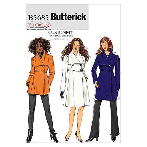 UPC 031664441403, Butterick Patterns B5685 Misses' Jacket and Coat, Size B5 (8-10-12-14-16)