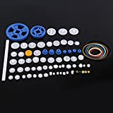 Plastic Motor Gears DIY Robot Gear Kit Pulley Belt Single and Double Crown Worm Gears Set for DIY Car Robot (80 Kinds )