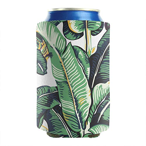 2-Pack Durable Collapsible Fully Stitched Insulated Bottles Holder Neoprene Beverage Coolers 12 to 16 oz banana leaf 2 tree kratzbaum pattern 2018 Cold Drink Soda Water Beer Cans Cooler Covers]()