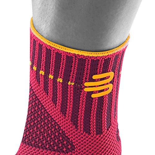 Bauerfeind Sports Ankle Support - Breathable Compression - Figure 8 Taping Strap - Air Knit Fabric Breathability - Designed Secure Fit Maximum Freedom Movement (Pink, Medium/Left) by Bauerfeind (Image #4)