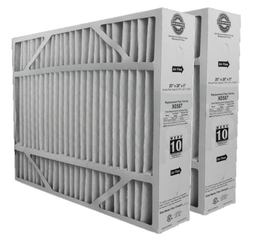"Lennox X0587 MERV 10 Filter - 2 Pack - 20"" x 26"" x 5"" - Genuine Lennox Product"