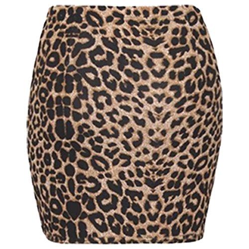 Femmes Mini Brown Moulant Print Elasticated Leopard Pour Extensible 8 Arme Skirt Jupe Animal 14 Animal Imprim Courte Femmes Crayon wYxxOI0qS