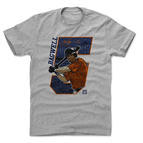 500 LEVEL Jeff Bagwell Cotton Shirt (Large, Heather Gray) - Houston Astros Men's Apparel - Jeff Bagwell Offset B ()