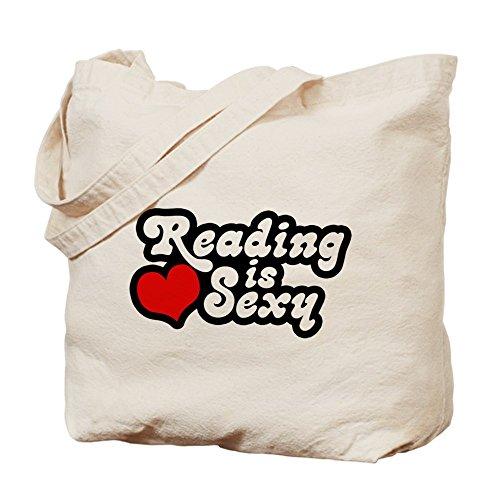 CafePress–lectura es Sexy–Gamuza de bolsa de lona bolsa, bolsa de la compra
