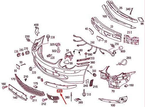 MB SL R230 Pare-choc avant droit PTS Rail A23088512219040
