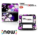 [new 3DS XL] Flower #1 Rose Purple Limited Edition VINYL SKIN STICKER DECAL COVER for NEW Nintendo 3DS XL / LL Console System