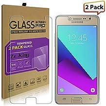 [2-Pack]Samsung Galaxy J2 Prime, Galaxy Grand Prime Plus,Tempered Glass Screen Protector, ZeKing 0.33mm 2.5D Edge 9H Hardness [Anti Scratch][Anti-Fingerprint] Bubble Free,Lifetime Replacement Warranty