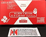 Burn Cream 6/box .9 gram #645 515-081