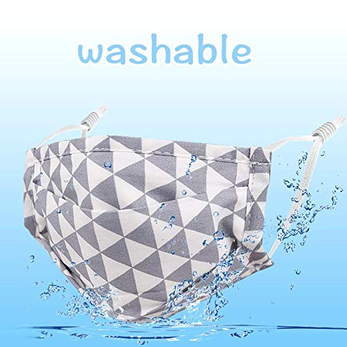 6 Pack Adjustable Washable Reusable Cotton Cloth Face Mask for Outdoor.Gift for Kids Boys Girls
