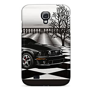 Durable Protector Case Cover With Checks Hot Design For Galaxy S4