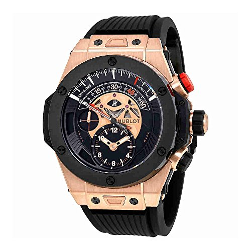 Hublot Big Bang Bi Retrograde King Gold Black Dial Chronograph Mens Watch 413.OM.1128.RX
