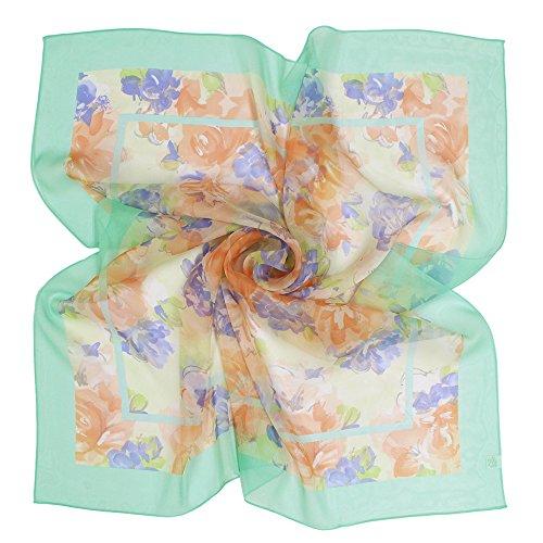 (구란쿠레에) Grancreer  일본제(MADE IN JAPAN) 실크100% 스카프 (I-꽃무늬 시리즈) [MADE IN JAPAN]