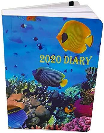 copertina lucida agenda tascabile Nuova Luna pagina intera per sabato e domenica formato A6 Diario 2020 un giorno per pagina