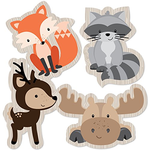 Woodland Creatures - Animal Shaped Decorations DIY Baby Shower or Birthday Party Essentials - Set of -