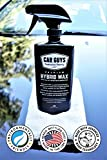 CarGuys Hybrid Wax Sealant - Most Advanced Top Coat Polish and Sealer on the Market - Infused with Liquid Carnauba for a Deep Hydrophobic Shine on All Types of Surfaces - 18 Ounce Kit