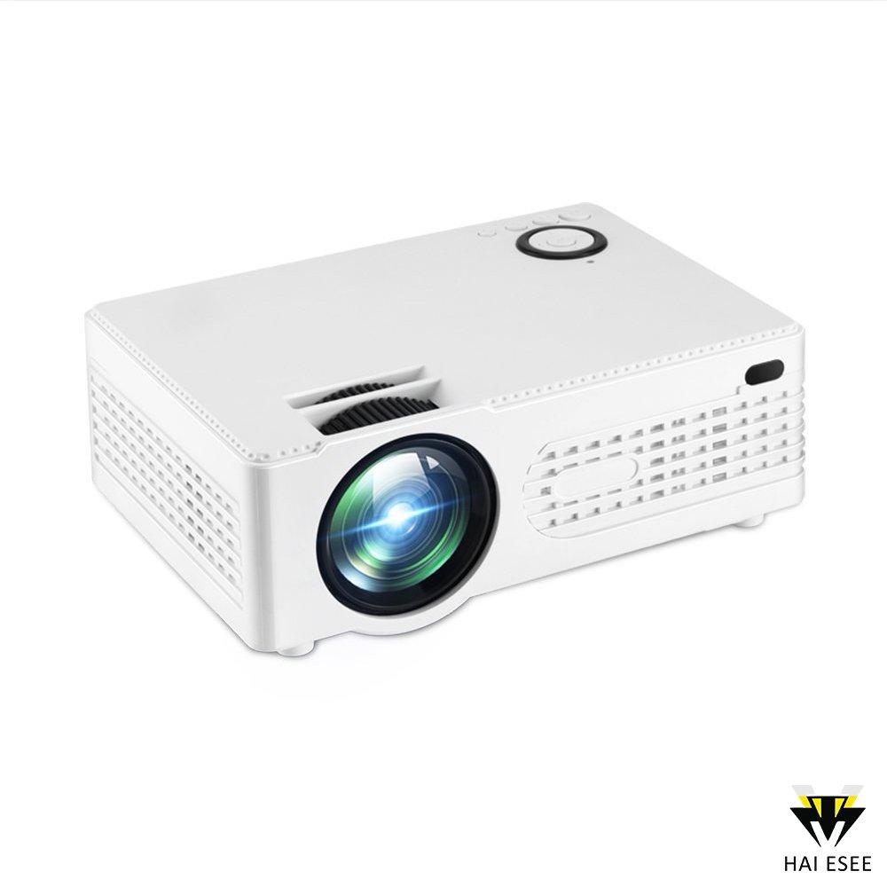 Hai esee LCD ミニ LED プロジェクター ホームシアター ビデオプロジェクター マルチメディア 2200ルーメン 1920 x 1080P HDMI ホームシアターシステム B078B4XLJX