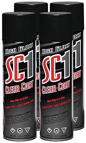 Maxima 78920-4PK SC1 Clear Coat Silicone Aerosol Spray, 48 fl. oz., 4 Pack (4 Silicone)