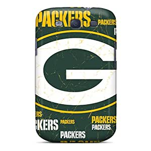 Scratch Resistant Cell-phone Hard Covers For Samsung Galaxy S3 With Unique Design Trendy Green Bay Packers Skin RobAmarook