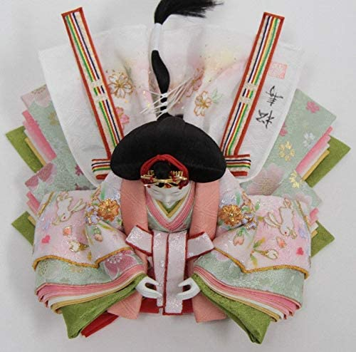 雛人形 親王収納飾り【おぼこ雛】金駒刺繍[幅60cm]小出松寿 市川伯英頭[193to1375-a42] 雛祭り